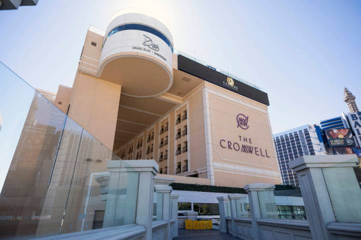 A view of the Cromwell along the Las Vegas Strip on Wednesday, Aug. 12, 2020. (Elizabeth Brumle ...