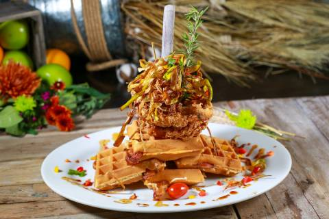 Andy's World Famous Sage Fried Chicken & Waffles at Hash House A Go Go (Edison Graff)