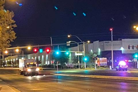A pedestrian was gravely wounded when struck by a truck at West Sunset Road and South Valley Vi ...