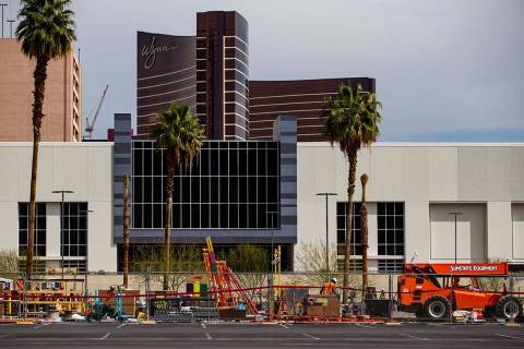Construction continues on the Caesars Forum conference center in Las Vegas on Thursday, April 1 ...
