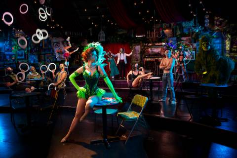 """Absinthe"" cast members are shown during the return of ""Absinthe"" at Caesars Palace on Wednesda ..."