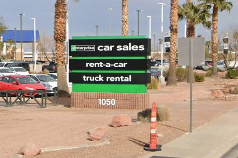 Enterprise Rent-A-Car at 1050 W. Warm Springs Road in Henderson. (Google)
