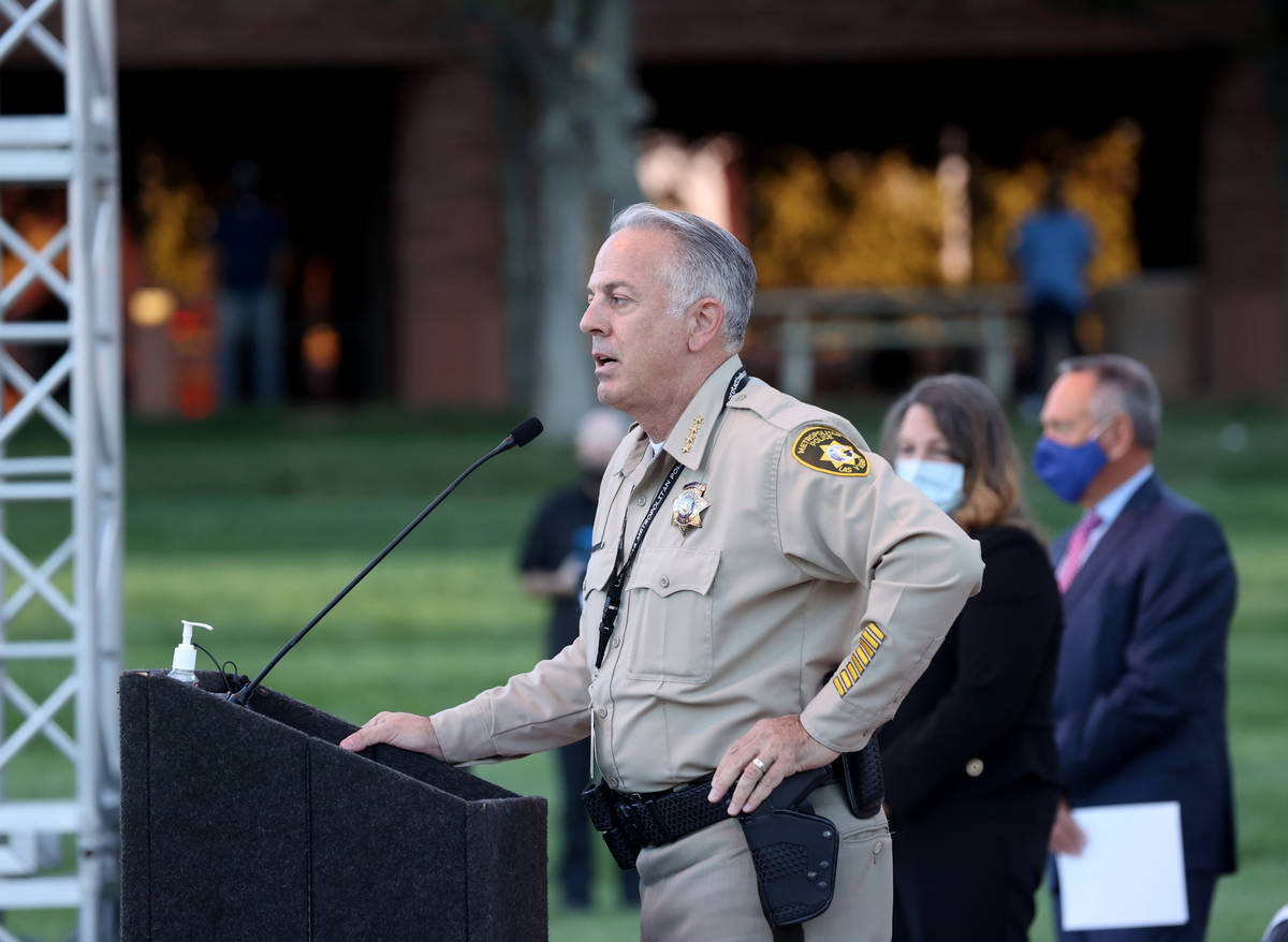 Clark County Sheriff Joe Lombardo announces that the official Route 91 Harvest festival victim ...