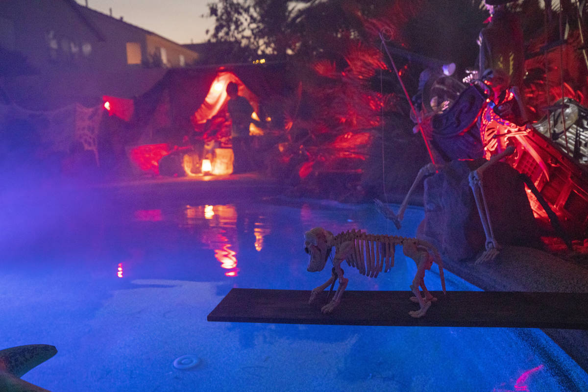 The Garcias' backyard is seen inspired from The Pirates of the Caribbean, for their Disney them ...