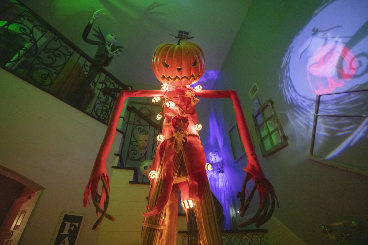 The Garcia's home is seen decorated with a Disney themed halloween inspiration, in Las Vegas, o ...