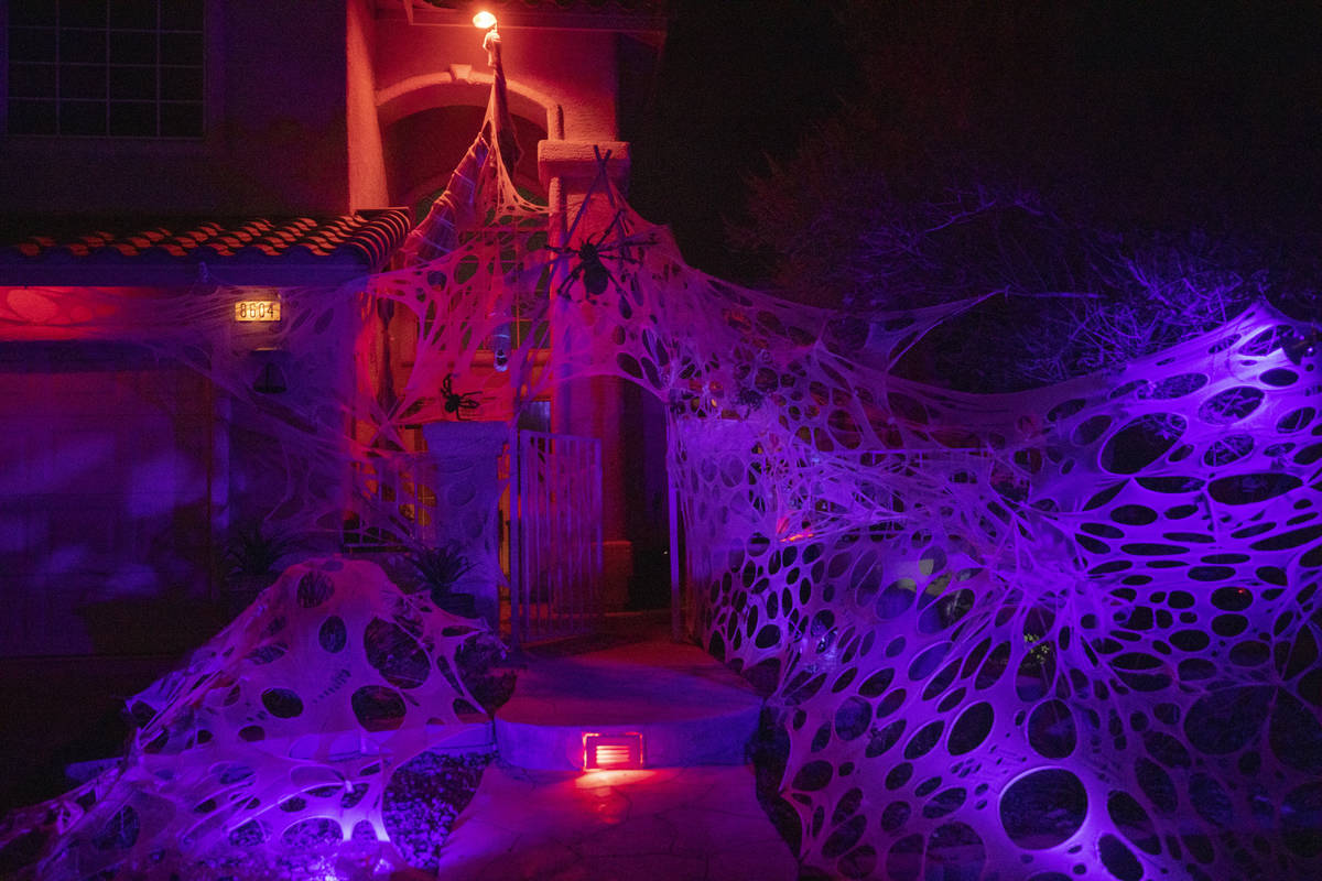 The Garcia home is seen decorated for Halloween on Monday, Oct. 19, 2020, in Las Vegas. (Elizab ...