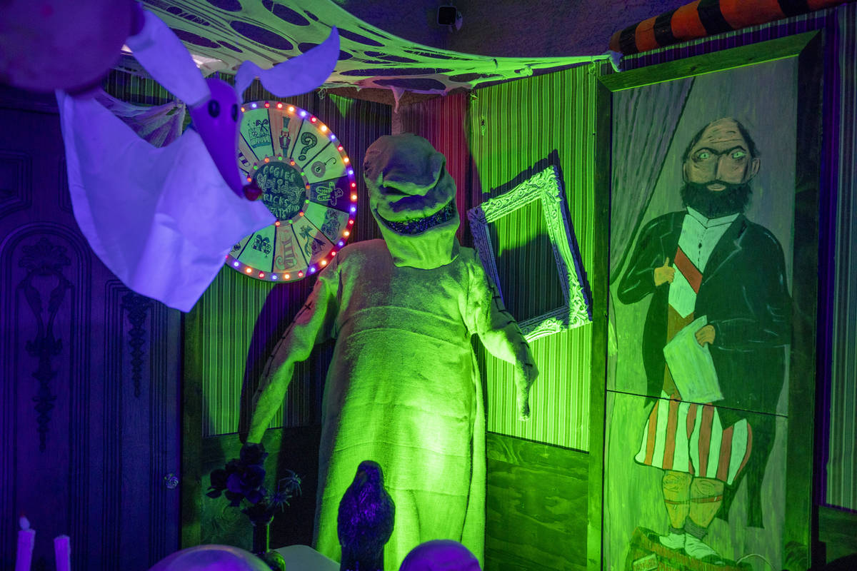 A homemade replica inspired from the Haunted Mansion attraction of Disneyland is seen at the Ga ...