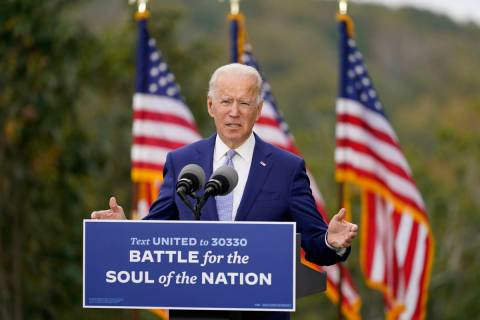 Democratic presidential candidate former Vice President Joe Biden speaks at Mountain Top Inn &a ...