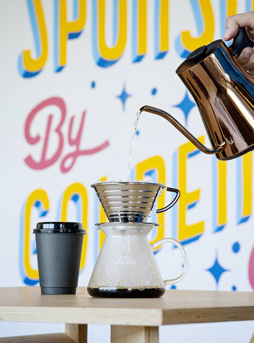 Voters can get a free cup of drip coffeee at Golden Fog Coffee this Election Day (Shannon Dorn)