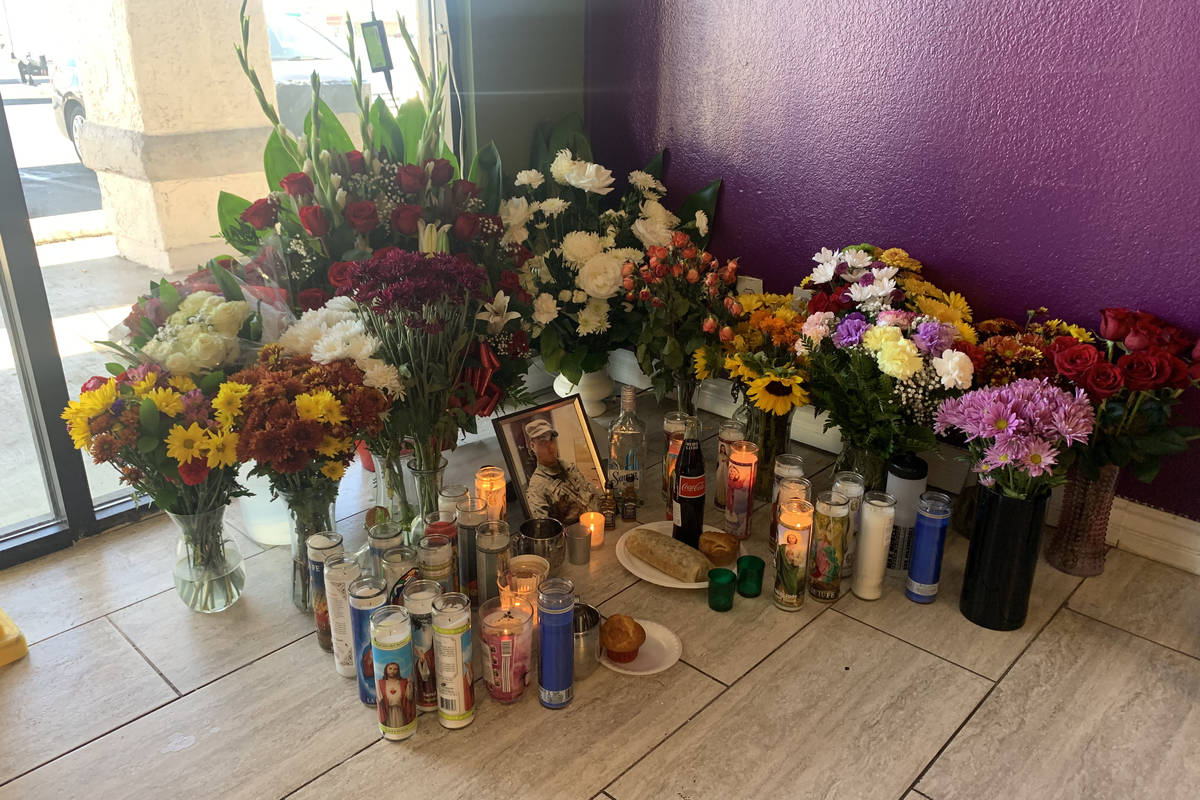 Ciro Vasquez Jr. is remembered at Taqueria del Paisano, where he was killed Sunday, Oct. 25, 20 ...