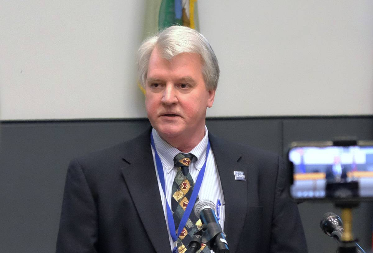 Kevin Dick, health officer for the Washoe County Health District, is seen in March 2020. (Bill ...