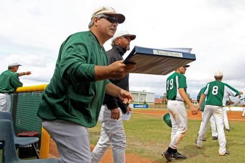 Rancho High School baseball coach Tom Pletsch, shown on Monday May 9, 2011. Las Vegas Review-Jo ...
