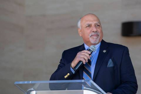 Las Vegas City Councilman Stavros Anthony speaks in Las Vegas in this Jan. 29, 2020, file photo ...