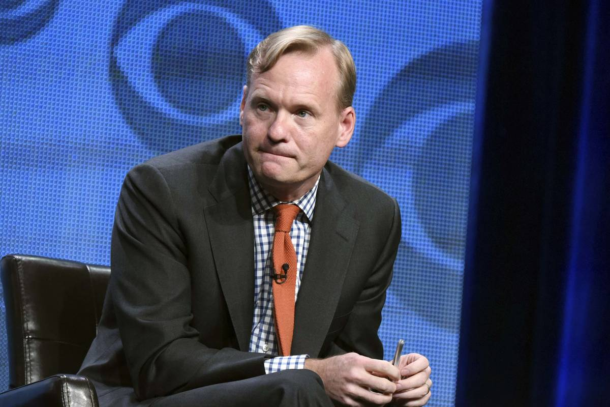 John Dickerson participates in the CBS News panel at the CBS Summer TCA Tour in Beverly Hills, ...