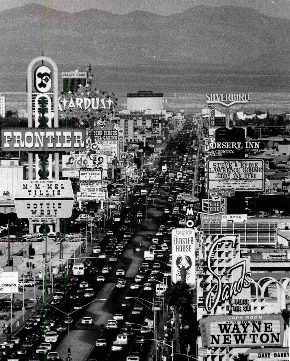 The Las Vegas Strip is seen in this undated file photo. (Las Vegas Review-Journal file)