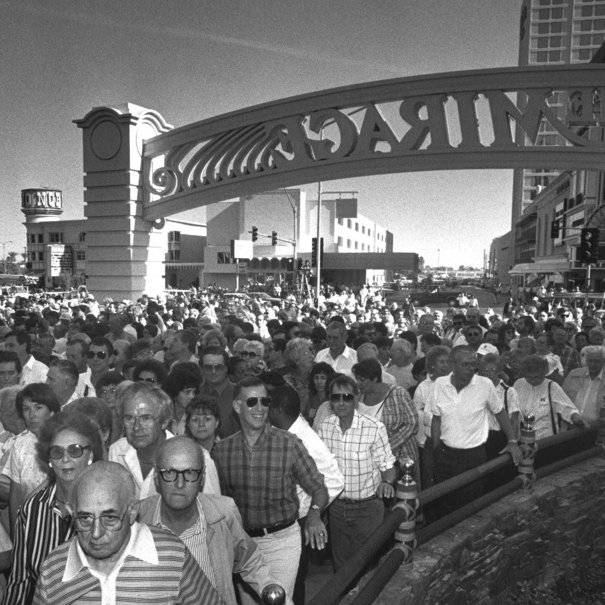 Within 30 minutes of its opening on Nov. 22, 1989, an estimated 40,000 visitors entered The Mir ...