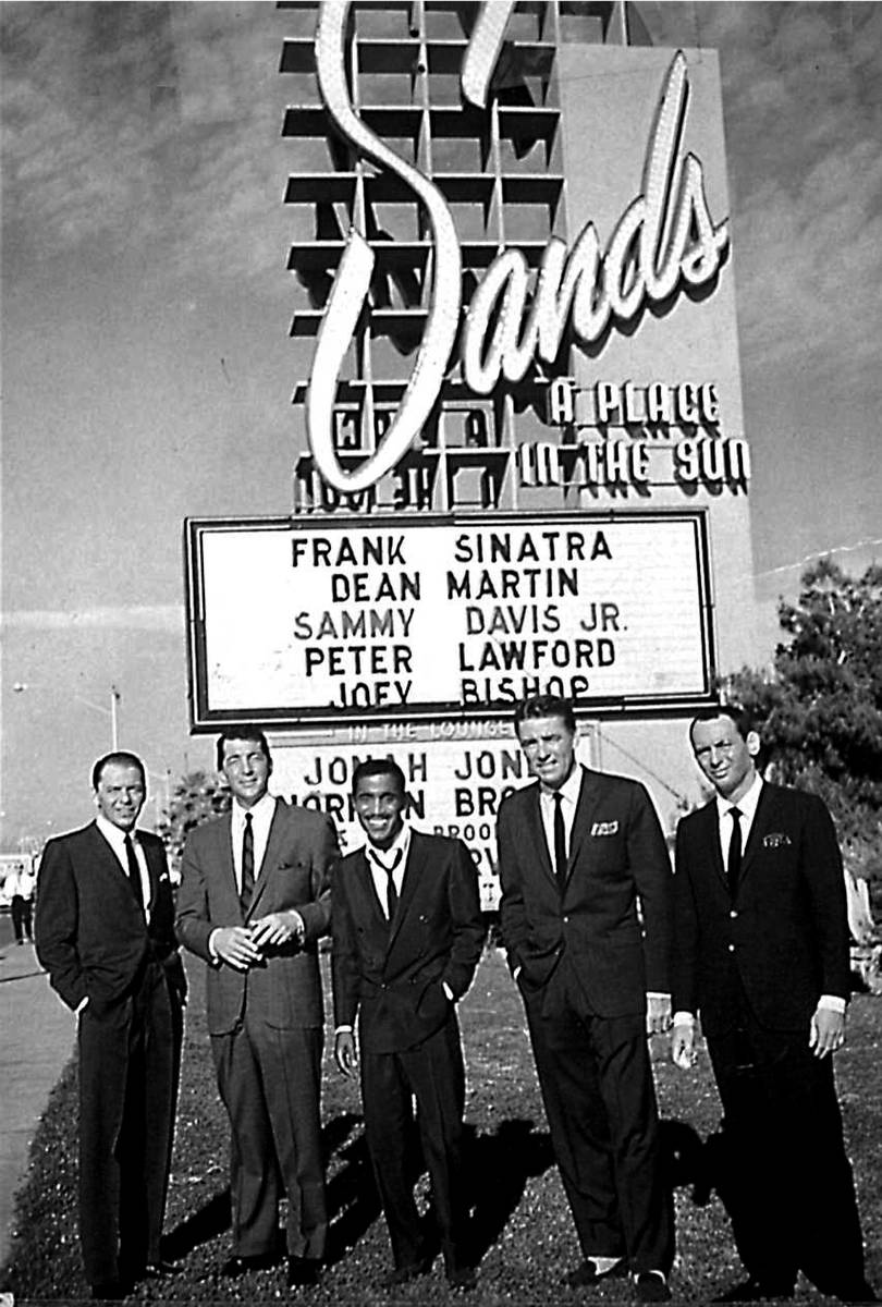 "Members of the legendary ""Rat Pack,"" from left, Frank Sinatra, Dean Martin, Sammy Davis Jr., Pe ..."
