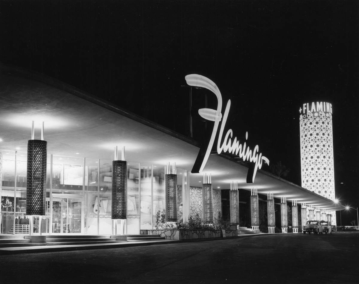 The Flamingo hotel-casino is seen in this undated file photo. (Courtesy Nevada State Museum)