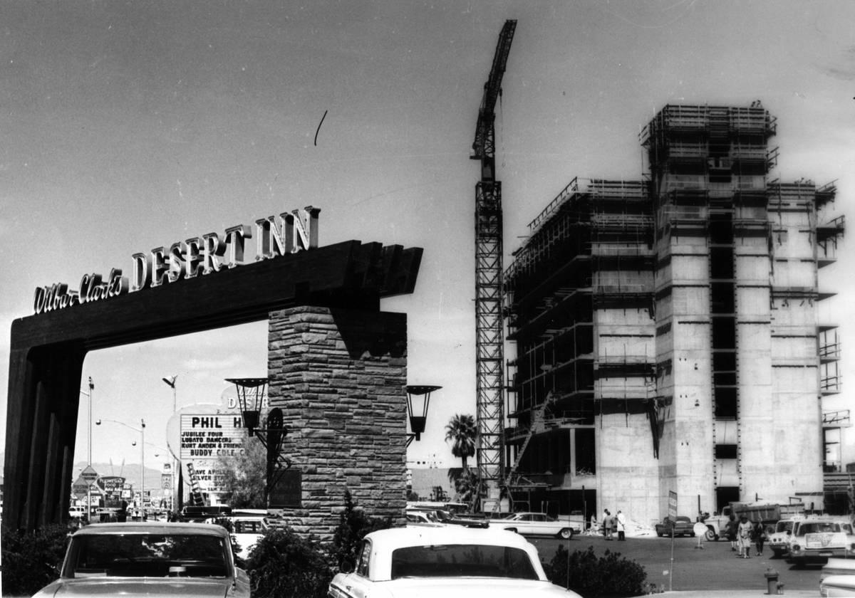 A new high-rise portion of the Desert Inn is going up in 1963. (Las Vegas News Bureau)