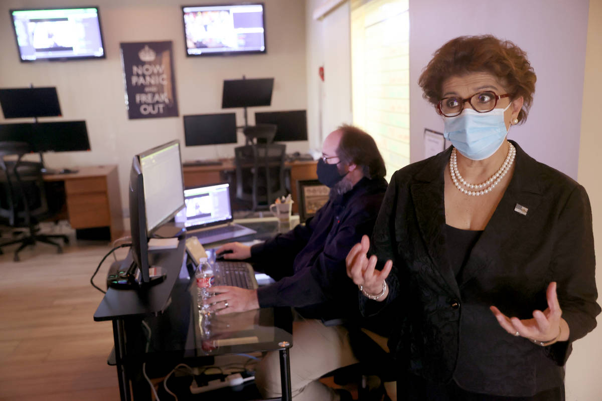 U.S. Small Business Administration (SBA) Administrator Jovita Carranza asks a question during a ...