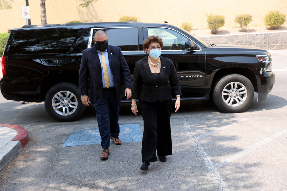 U.S. Small Business Administration (SBA) Administrator Jovita Carranza arrives for a tour of EC ...