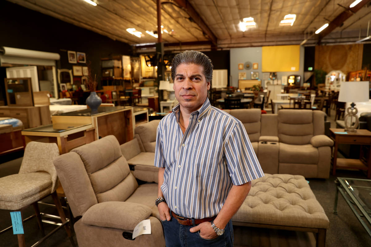 David Lee, owner of The Liquidator, at his Las Vegas business Friday, Oct. 30, 2020. (K.M. Cann ...