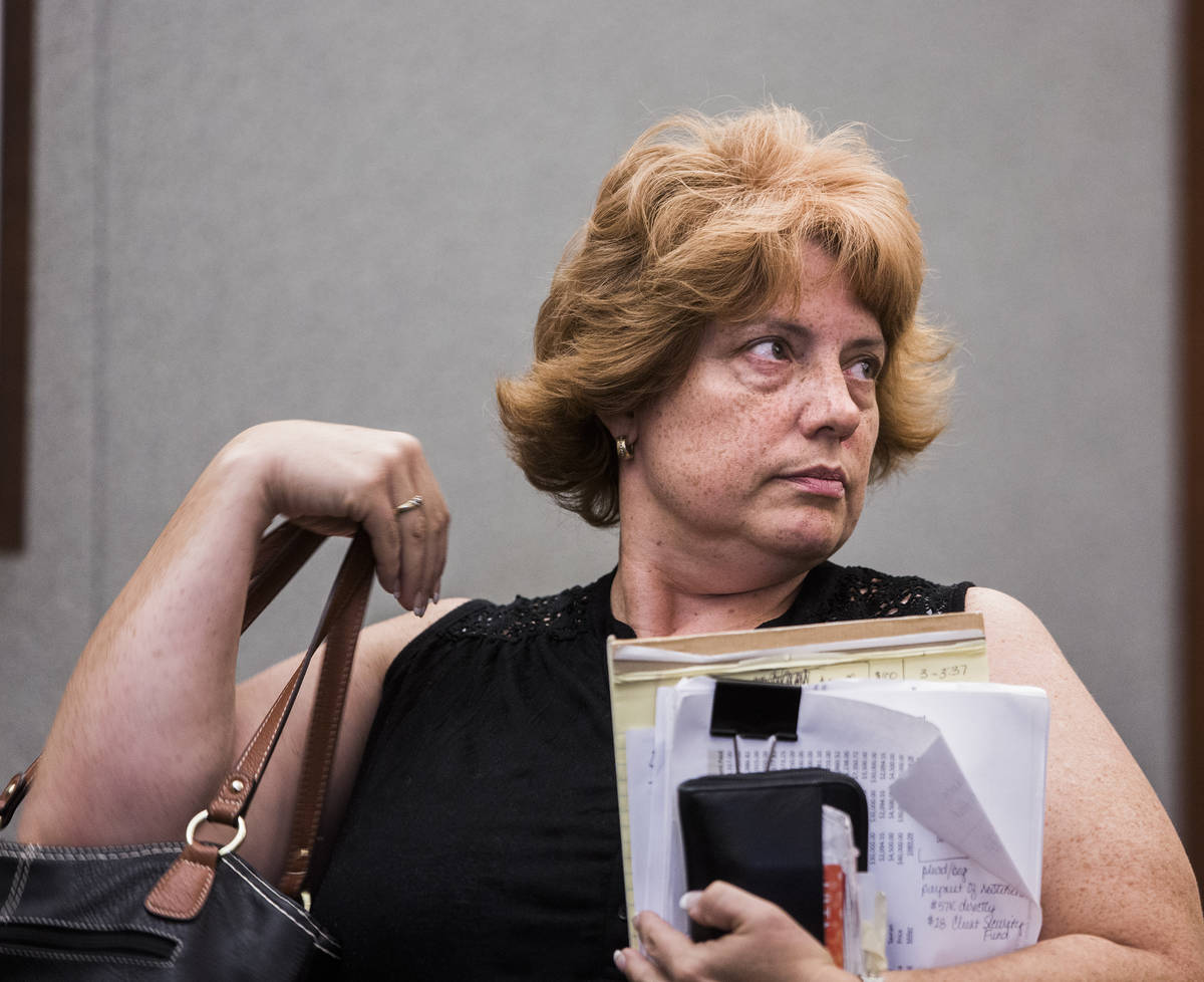 Disbarred Las Vegas lawyer Jeanne Winkler, who pleaded guilty to theft for stealing from client ...
