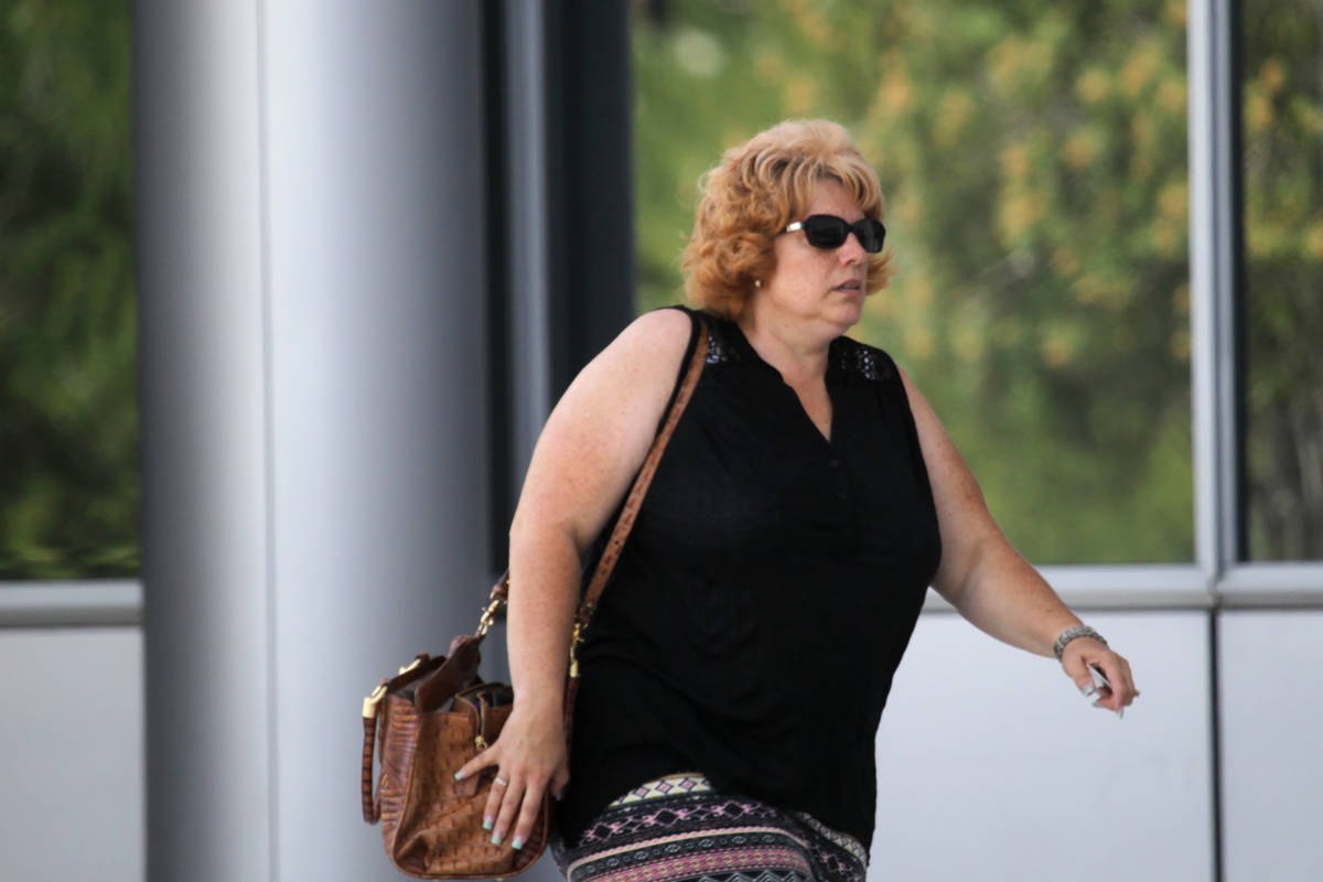Disbarred lawyer Jeanne Winkler enters the Lloyd D. George U.S. Courthouse on Tuesday, June 16, ...