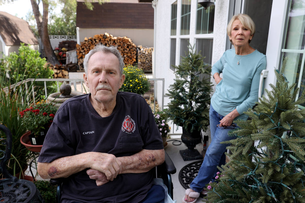 Retired Clark County fire Capt. Stanley Grismanauskas, 73, and his wife, Becky Lomprey Grismana ...