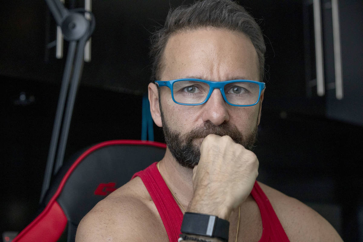 Poker player Daniel Negreanu is photographed in his home on Friday, Oct. 30, 2020, in Las Vegas ...