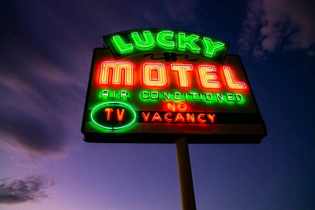 A total of seven signs will be restored, including The Lucky Motel sign on East Fremont Street. ...