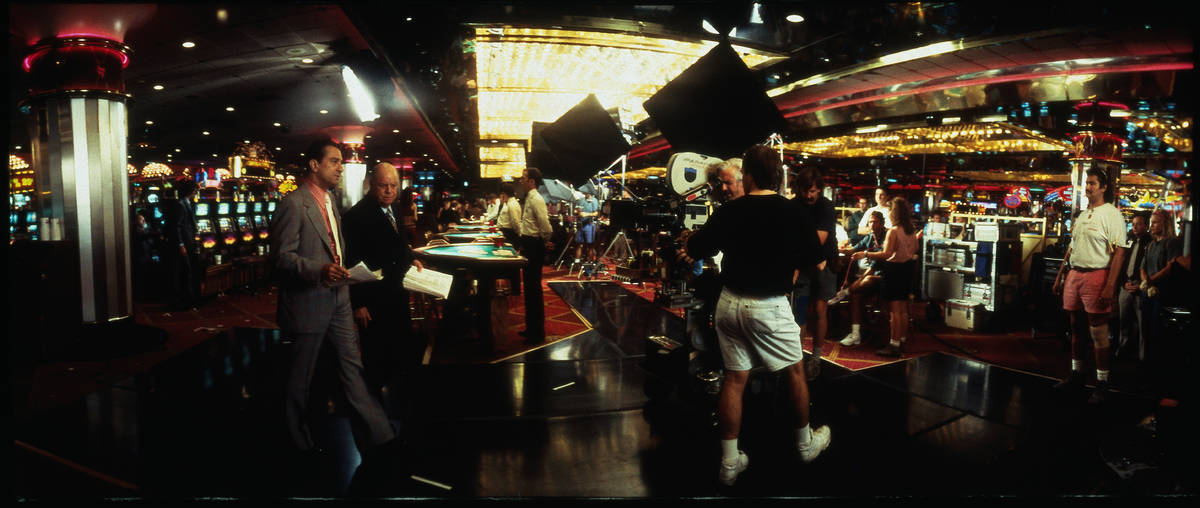 """Robert De Niro and Don Rickles are shown while filming """"Casino"""" inside the Riviera. (Universal ..."""