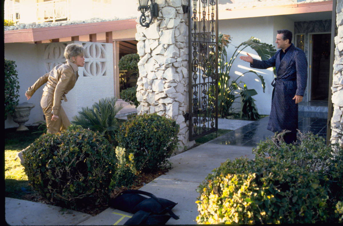 """Ginger (Sharon Stone) and Sam """"Ace"""" Rothstein (Robert De Niro) argue at their home, owned by Di ..."""