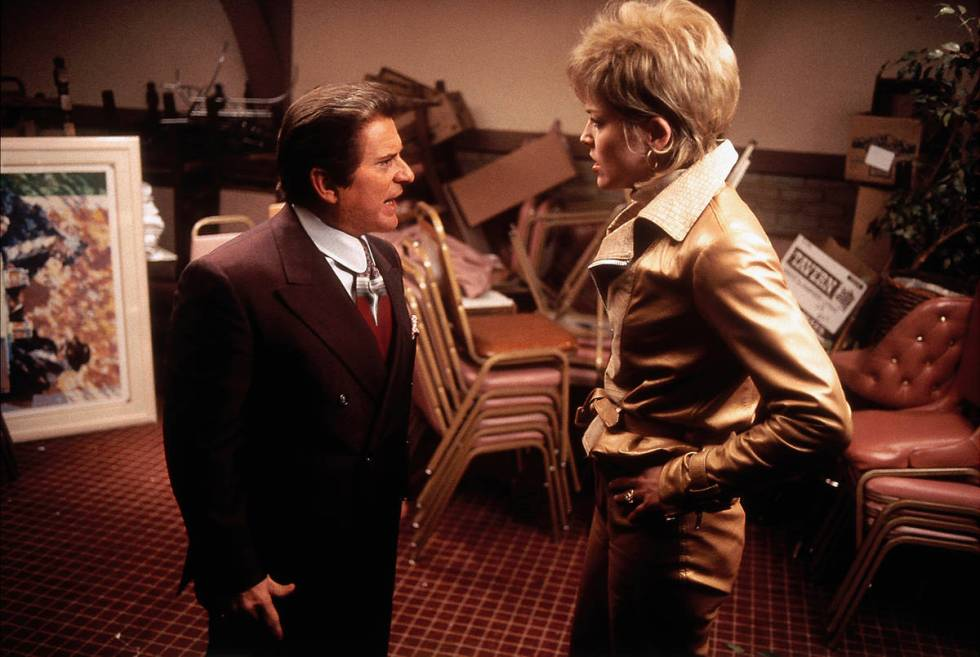 Nicky Santoro (Joe Pesci) and Ginger Rothstein (Sharon Stone) have a confrontation at The Leani ...