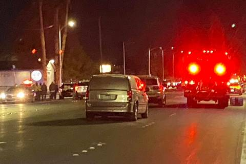 Las Vegas Police are at the scene of a fatal officer-involved shooting on the 2500 block of Nor ...