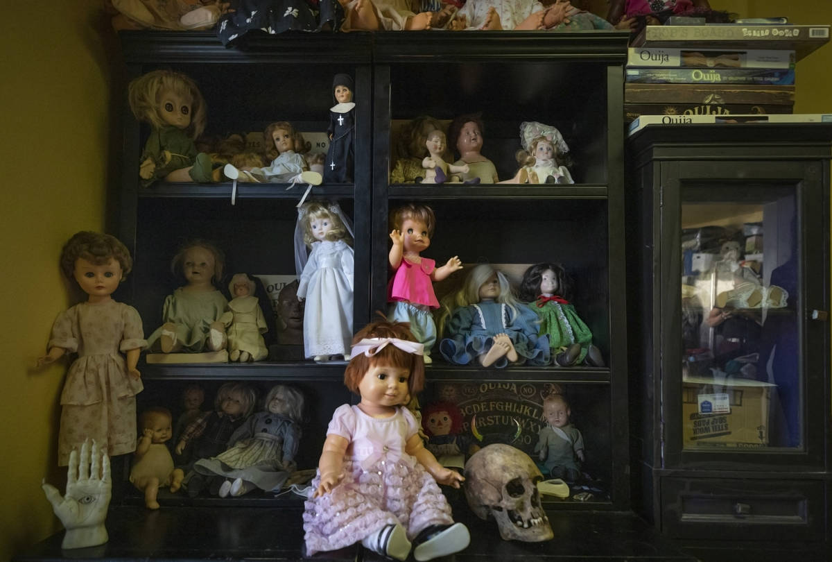 Items carrying paranormal activity are seen housed in a room specifically designated for them a ...