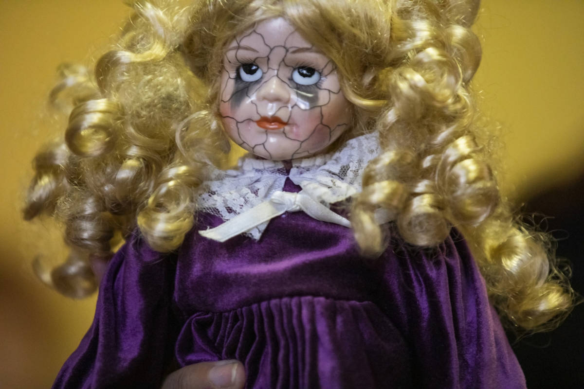 A doll that carries paranormal energy is seen in Staysha Randall's home on Thursday, Oct. 29, 2 ...