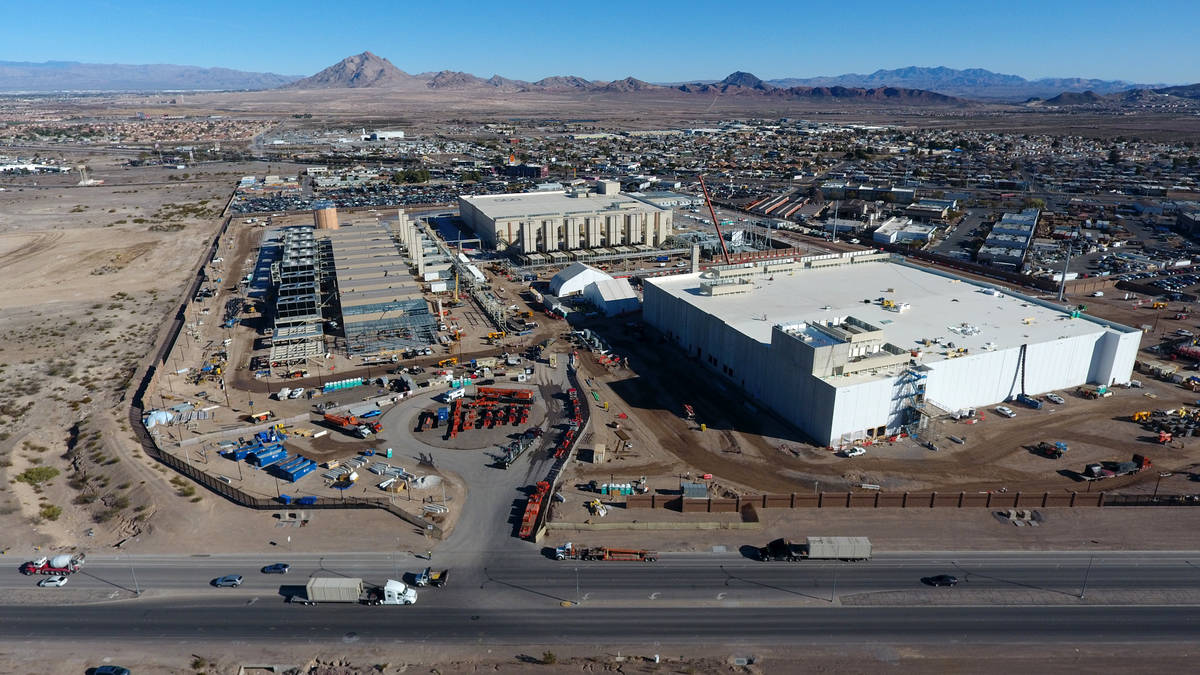 Aerial view of the Google Data Center under construction in Henderson on Tuesday, February 11, ...