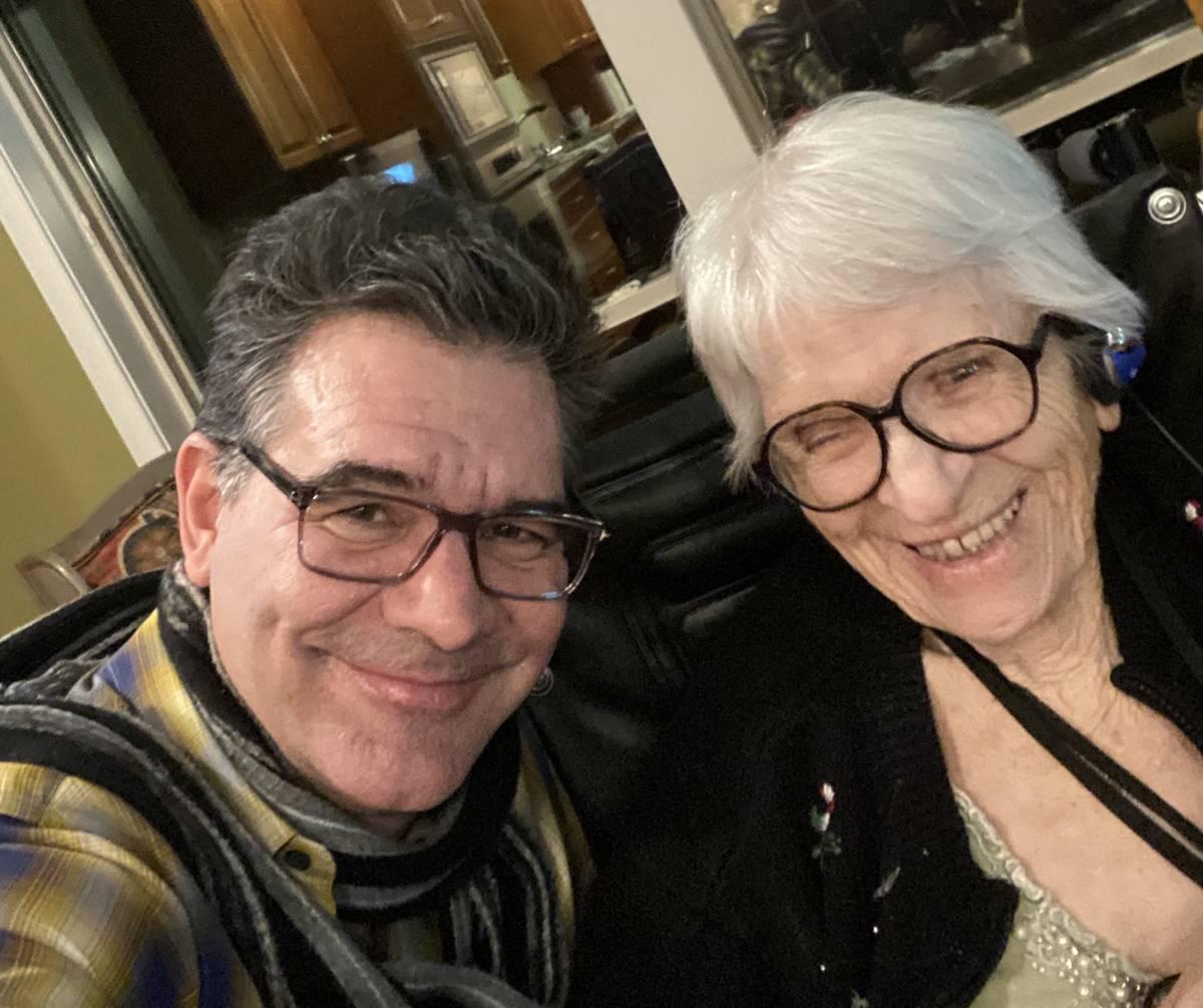 RJ columnist John Katsilometes is shown with his grandmother, Margaret Sanna, on Christmas Day ...