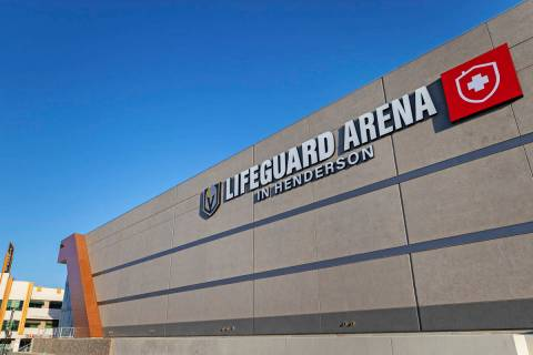 The Golden Knights' Lifeguard Arena on Monday, Oct. 26, 2020, in Henderson. (Benjamin Hager/Las ...