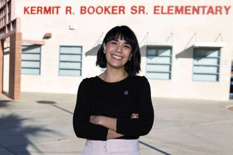 Juliana Urtubey, a learning strategist, at Booker Sr. Innovative Elementary School on Nov. 13, ...
