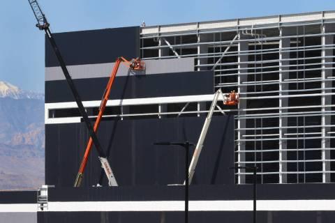 Construction of Allegiant Stadium (Bizuayehu Tesfaye/Las Vegas Review-Journal) @bizutesfaye