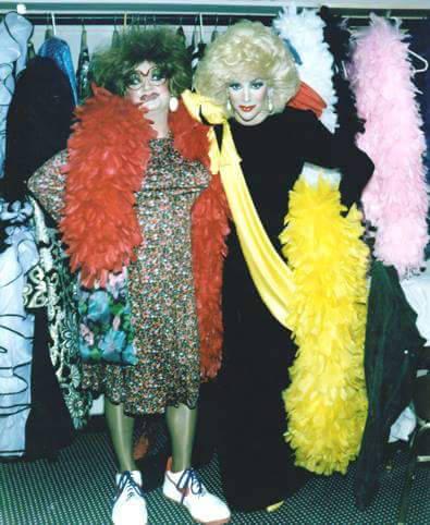 "Veteran Vegas producer Dick Feeney is shown with Frank Marino as Feeney performed as ""Disco Dol ..."