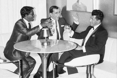 """The Rat Pack Is Back"" cast is shown in a promotional photo. From left: Kyle Diamond, Chris Jas ..."