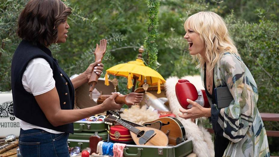 "Aisha Tyler, left, and Malin Akerman star in ""Friendsgiving."" (Saban Films)"