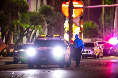 Las Vegas police respond to the scene at Circus Circus where multiple people were shot in Las V ...