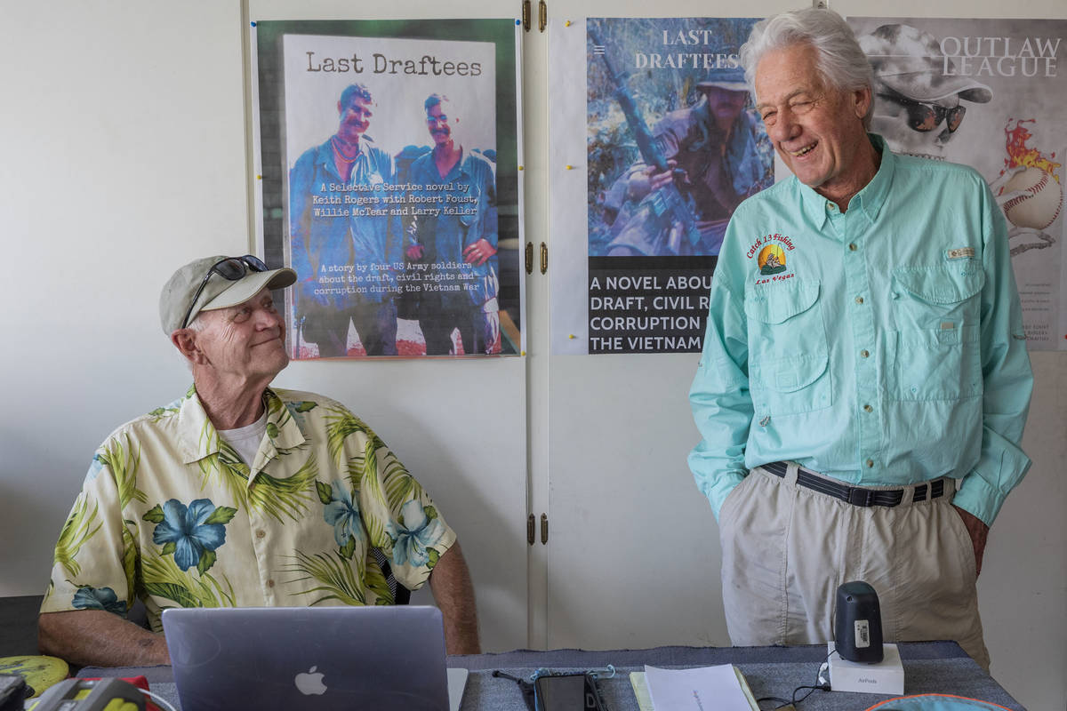 Co-Authors Vietnam veteran Robert Foust, left, and Keith Rogers, a former RJ reporter who cover ...