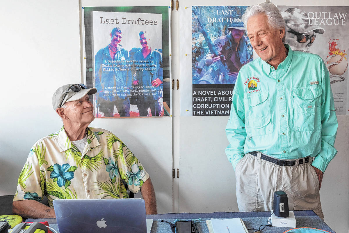 """""""Last Draftees"""" co-authors Vietnam veteran Robert Foust, left, and Keith Rogers, a former R ..."""