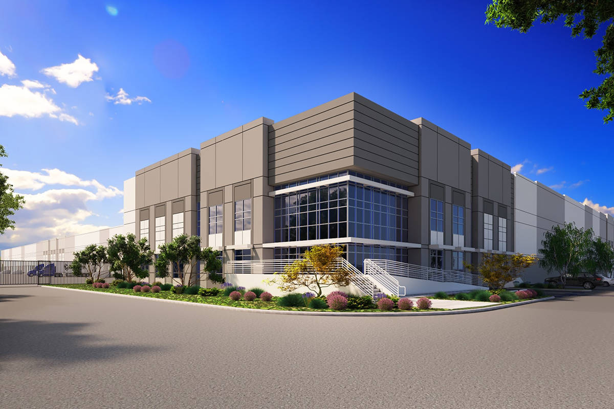 A drawing of e-commerce firm Whitebox's newly leased industrial facility in North Las Vegas. (C ...