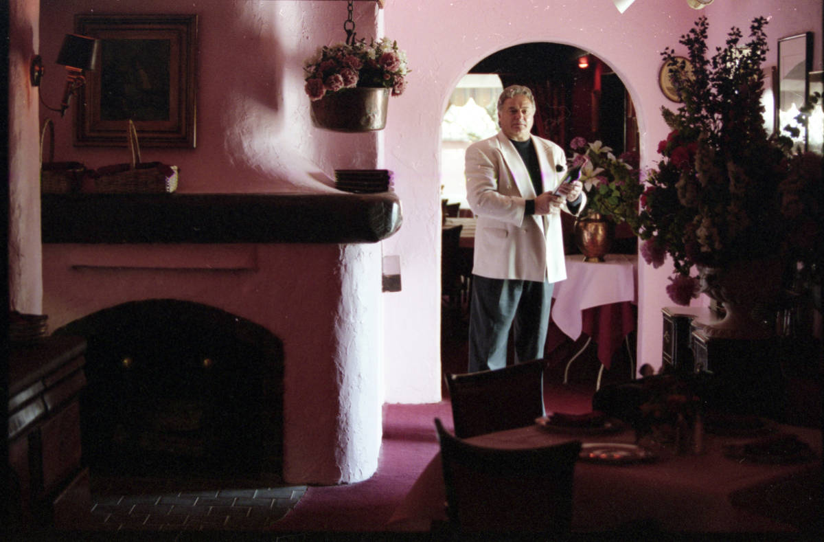 Owner Georges LaForge at his Pamplemousse restaurant in 1997, which opened in 1976 in a stucco ...